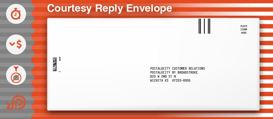 Courtesy Reply Envelope